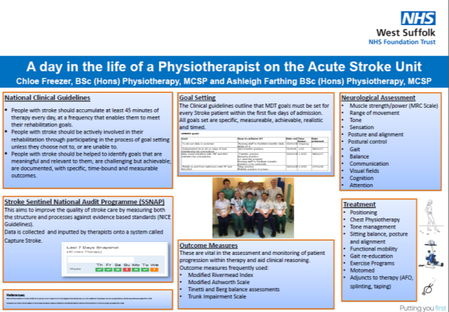 A Day in the Life of a Physiotherapist on the Acute Stroke Unit