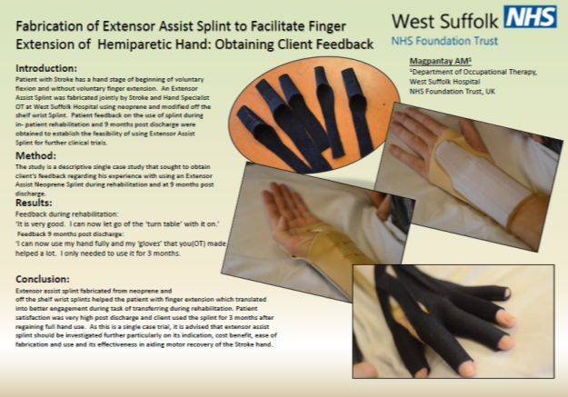 Fabrication of Extensor Assist Splint to Facilitate Finger Extension of Hemiparetic Hand