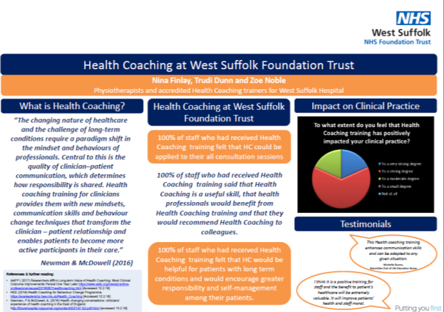 Health Coaching at West Suffolk Foundation Trust