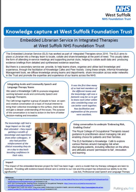 Knowledge Capture at West Suffolk Foundation Trust
