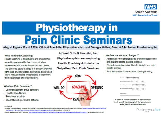 Physiotherapy in Pain Clinic Seminars