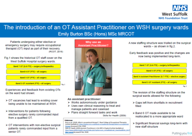 The Introduction of an OT Assistant Practitioner on WSH Surgery Wards