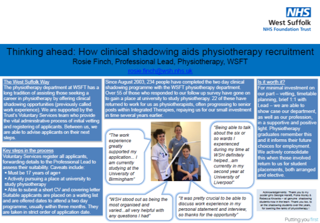 Thinking Ahead How Clinical Shadowing Aids Physiotherapy Recruitment